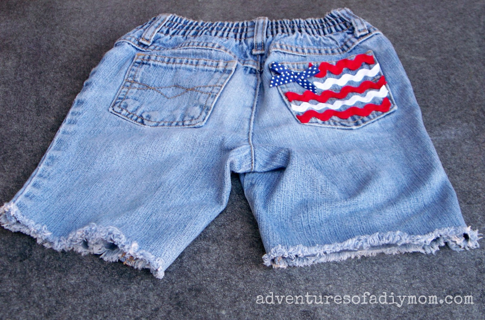 Flag Pocket - Cut Off Jean Shorts Series
