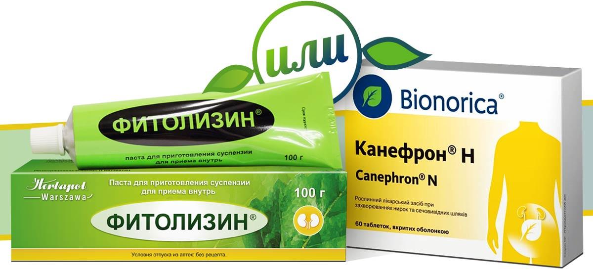 Фитолизин и Канефрон