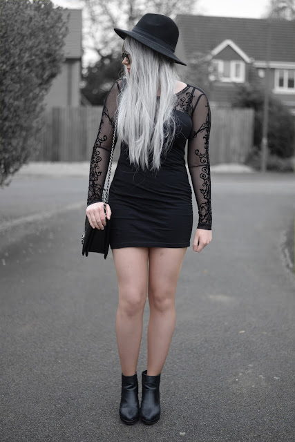 Sammi Jackson - Punk Rave Gothic Mesh Lorelei Party Dress from Kate's Clothing