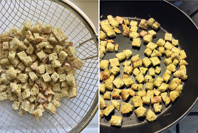 vellutata di finocchi e patate con crostini di pane alla curcuma e finocchietto selvatico