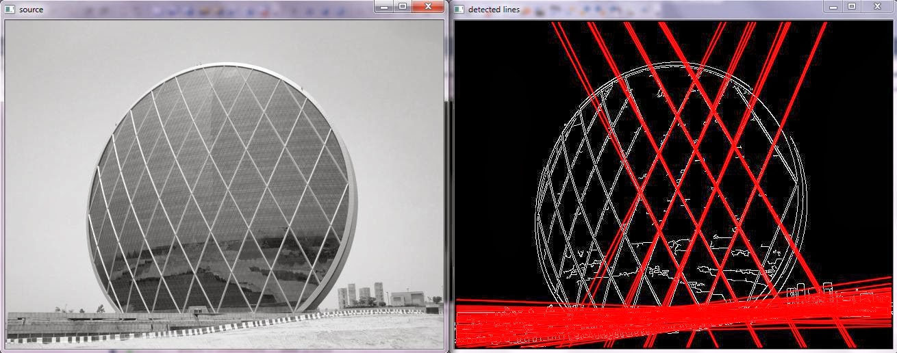 Learn OpenCV by Examples: Line Detection by Hough Line Transform