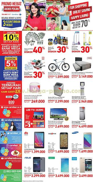 Katalog Promo CARREFOUR dan TRANSMART Akhir Pekan Weekend Periode 06 - 08 Januari 2017