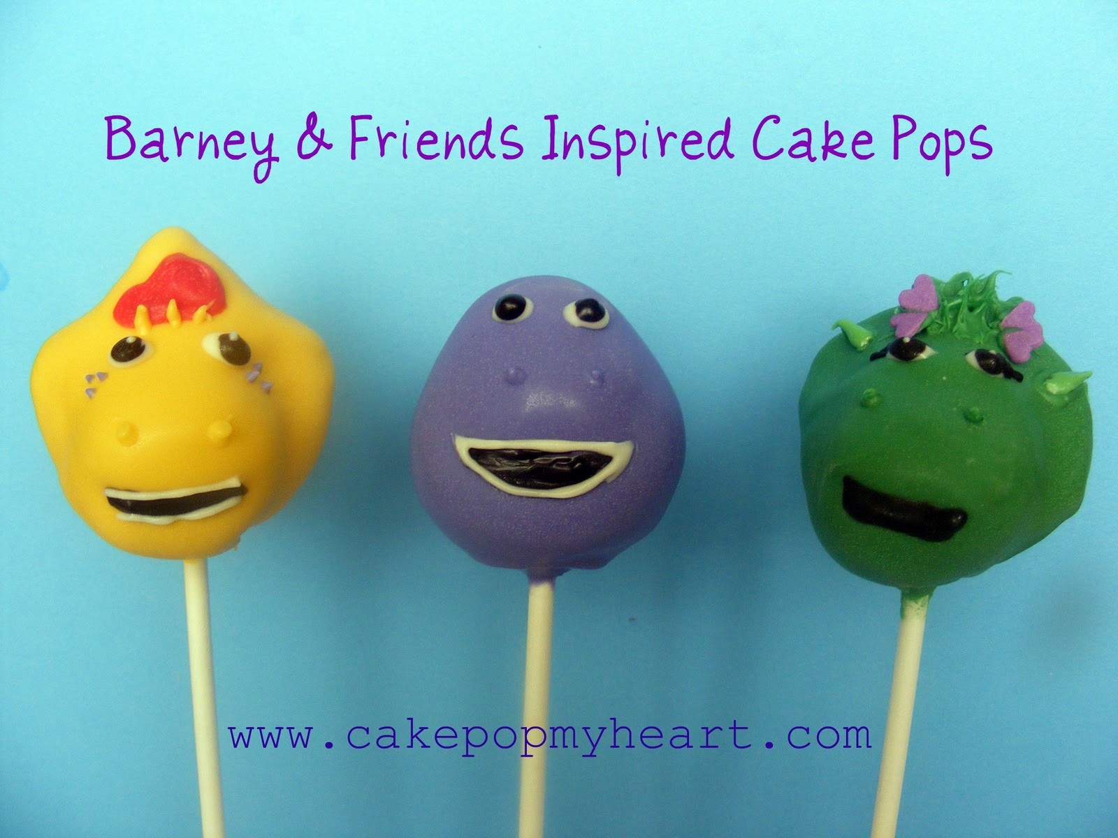 barney cake pops - photo #1