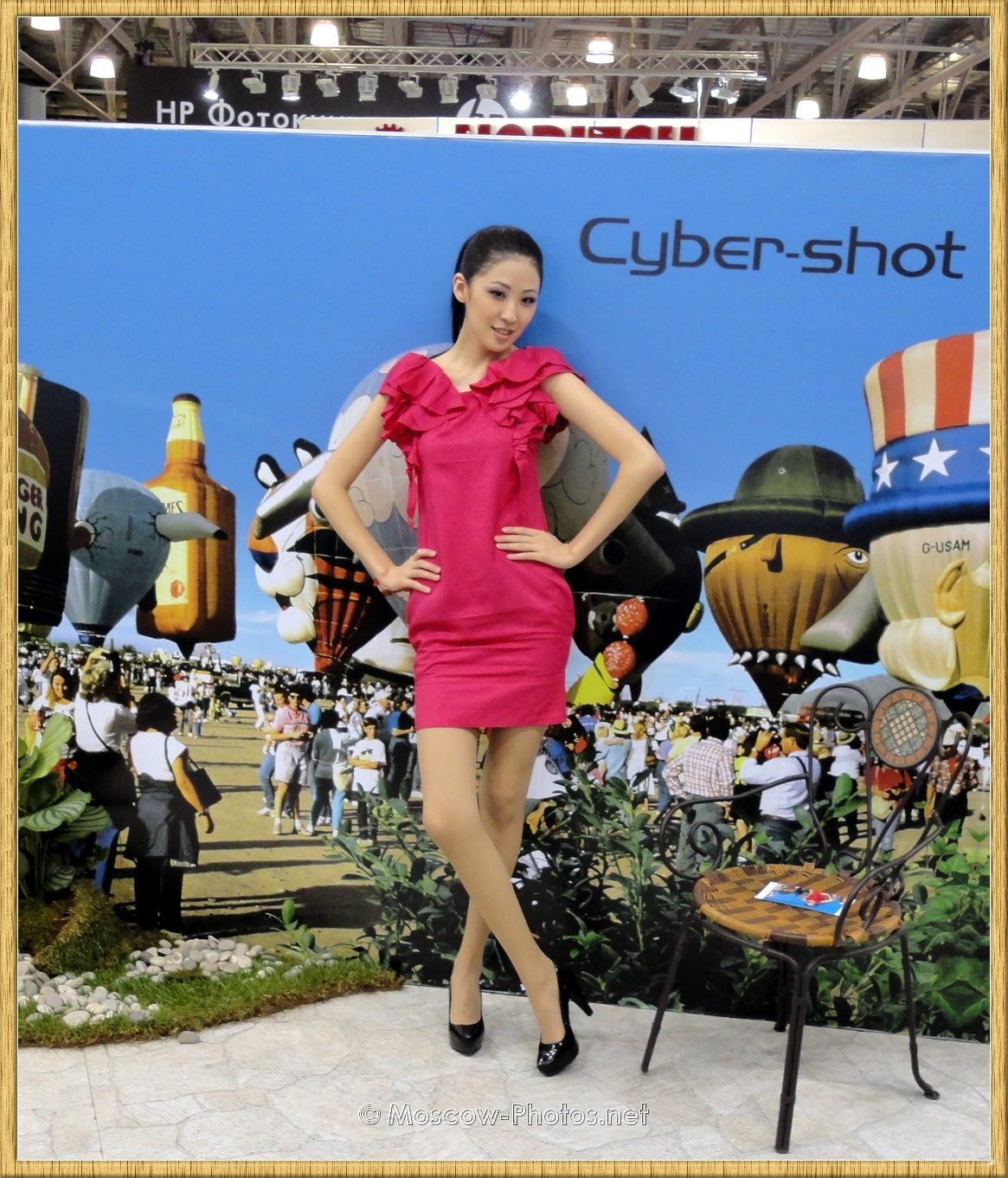 Sony Model In Red Dress Posing at Photoforum