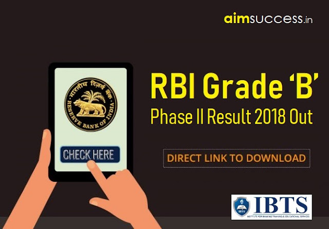 RBI Grade B Phase II Result 2018 Out, Check Here Now!