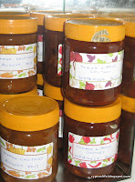 jars of apple and tomato chutney in my store cupboard