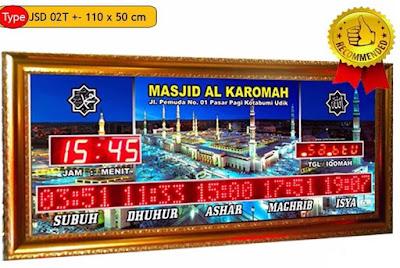 Jual Jam Jadwal Sholat Digital Masjid Di Jakarta Timur
