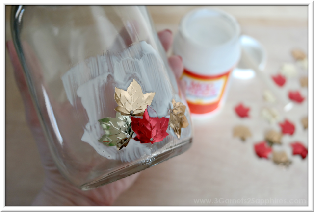 How to make 'A Year of Smiles' mod podge Mason Jar Gift  |  3 Garnets & 2 Sapphires