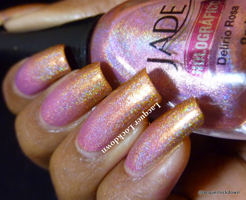 Lacquer Lockdown - KBShimmer, Jade Holigraficosl Jade Holograficos Delerio Rosa, KBShimmer Run It's the Coppers, holographic nail art, gradient nail art, indie nail polish, diy nail art, cute nail art ides