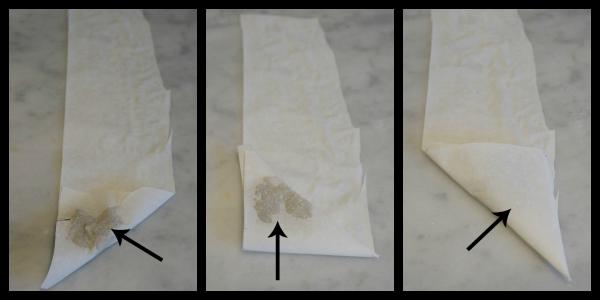steps for folding spanakopita