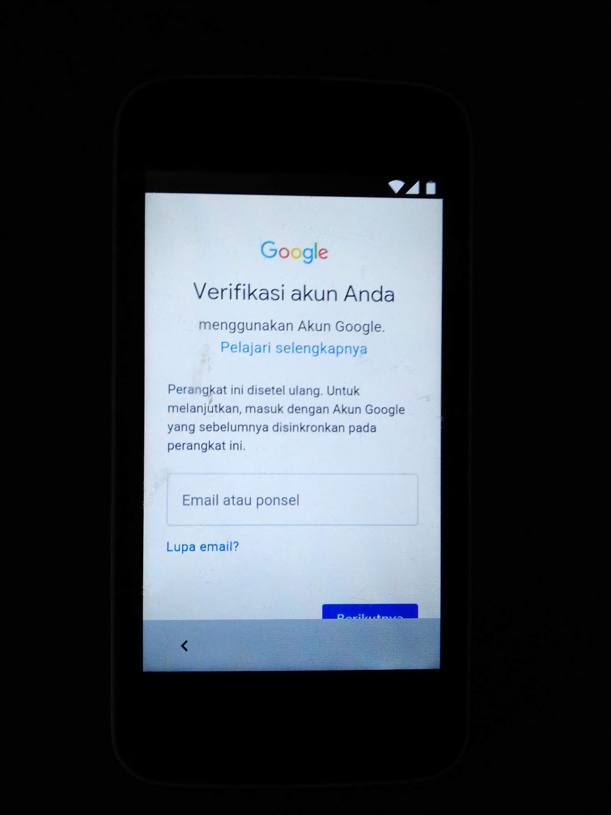 FRP Google Account Advan M4