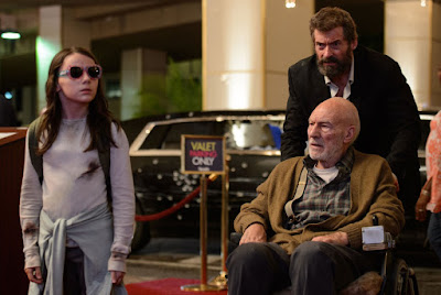 Dafne Keen, Patrick Stewart and Hugh Jackman in Logan Movie (9)