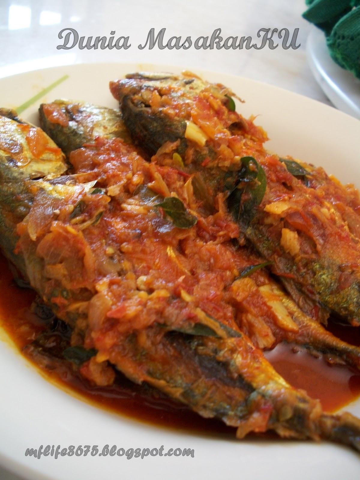 dunia masakanku ikan kembung masak sambal Resepi Ikan Kembung Masak Sambal Serai Enak dan Mudah