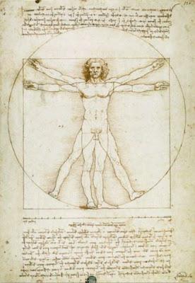 L'homme de Vitruve (les proportions humaines) - Léonard de Vinci
