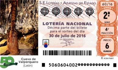 loteria nacional 30 julio 2016