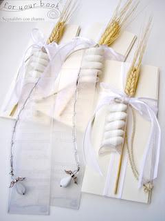 bomboniera comunione segnalibro inciso personalizzato ciondolo angelo