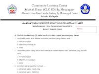 Soal UTS IPS Kelas 1 SD Semester 2 Terbaru