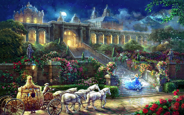 amazing Disney paintings by Thomas Kinkade
