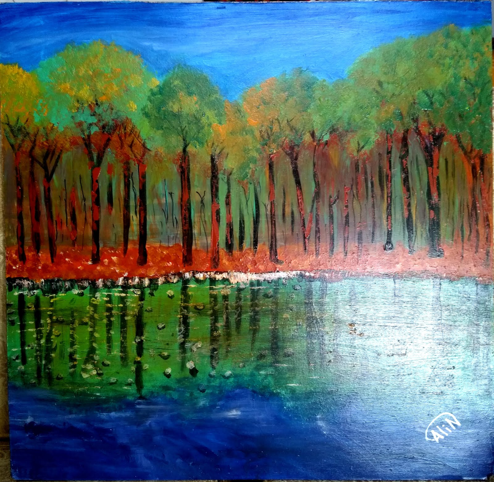 Lake and Trees