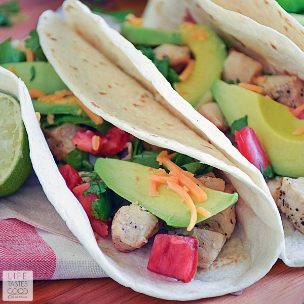 Cinco de Mayo Lime Chicken Soft Tacos | by Life Tastes Good