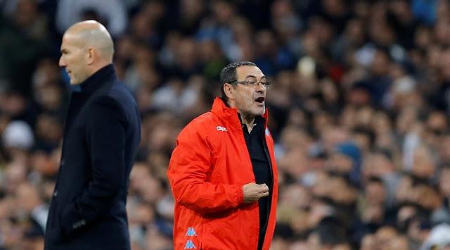 Maurizio Sarri menjadi calon penggati pelatih Chelsea Antonio Conte