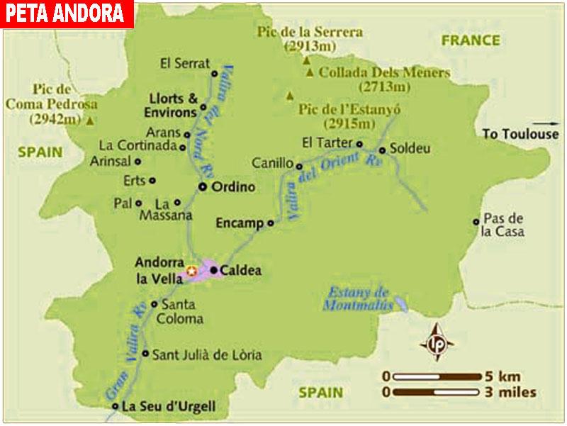 Gambar Peta Negara Andora