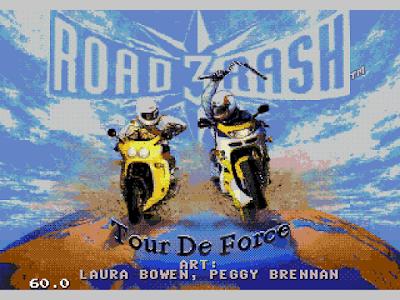 【MD】暴力摩托1+2+3代系列合集,另類的非法機車賽車遊戲!