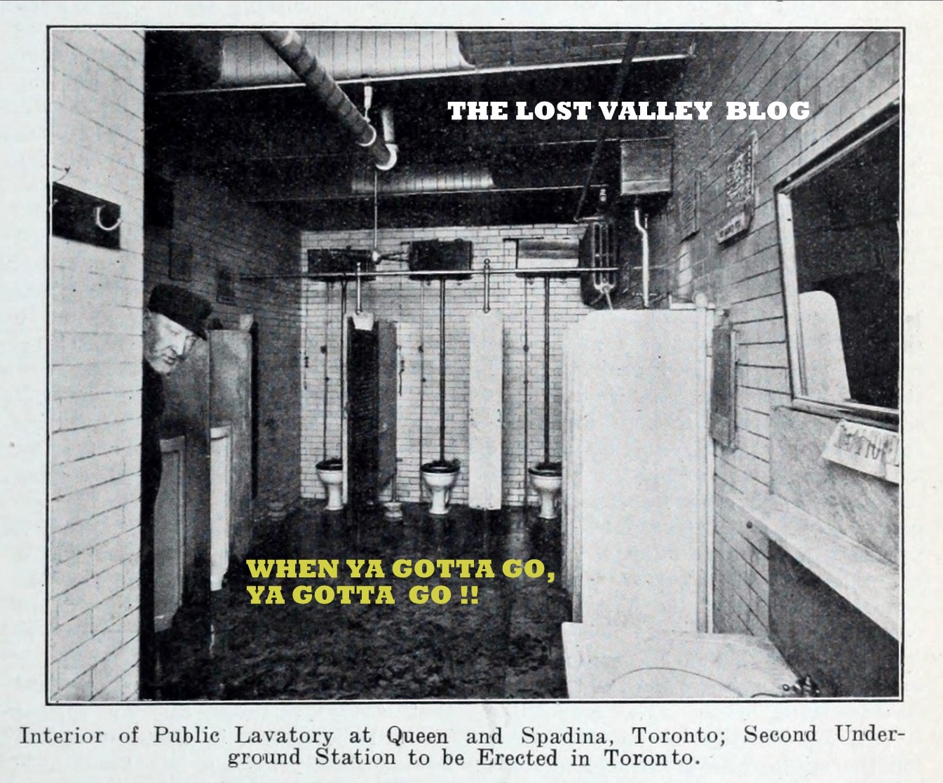 Public lavatory at Queen and Spading, Toronto - circa 1906