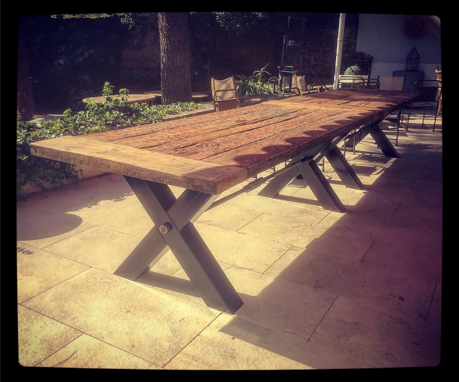 Table Extérieur Bois Métal Vitadeco 5 Mètres Sur Mesure