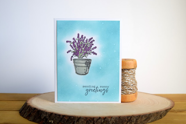 Floral Greeting Card by Jess Crafts using Hero Arts My Monthly Hero July 2017 Kit