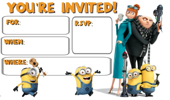 Despicable Me 3 Birthday Party Printables