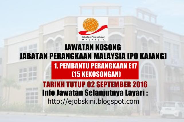 Jawatan kosong jabatan perangkaan malaysia (Po Kajang) September 2016