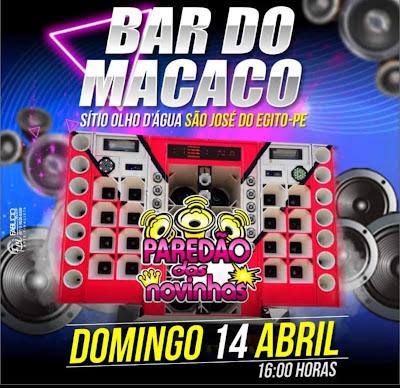 Paredão das Novinhas - Local: Bar do Macaco - São José do Egito-PE, A Partir das 14:00hs