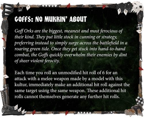 Reglas especiales Clan Goff
