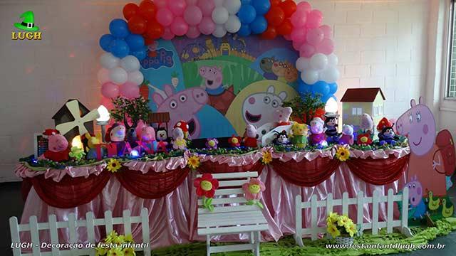 Decoração Peppa Pig para mesa de aniversário - Festa infantil - Barra-RJ