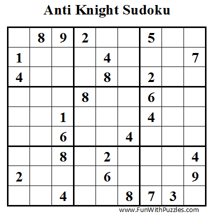 Anti Knight Sudoku (Daily Sudoku League #40)