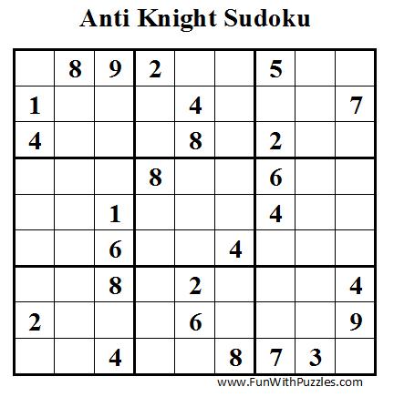 Anti Knight Sudoku (Daily Sudoku League #40)