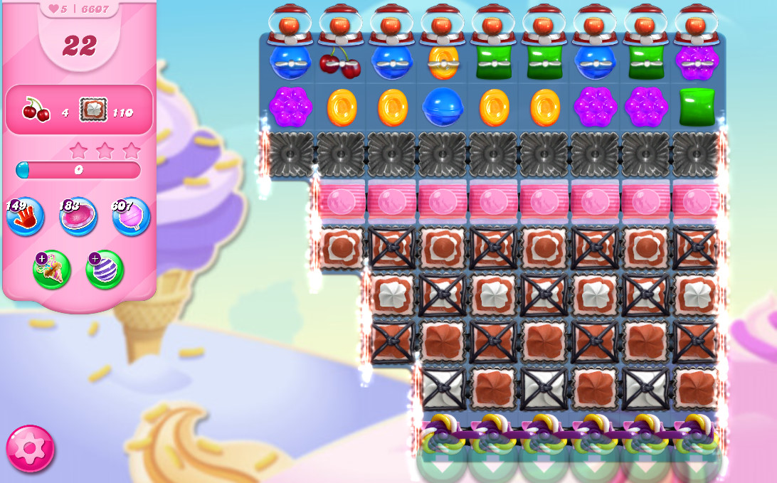 Candy Crush Saga level 6607
