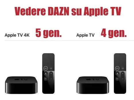 modelli apple tv compatibili con dazv per vedere partite