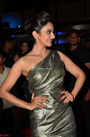 Rakul Preet Singh in Shining Glittering Golden Half Shoulder Gown at 64th Jio Filmfare Awards South ~  Exclusive 014.JPG