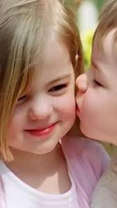 Top latest hd Baby Boy to Girl frist kiss images photos pic wallpaper free download 1