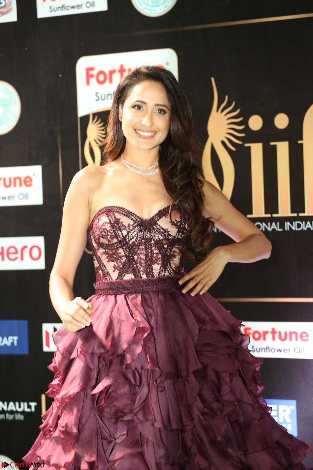 Pragya Jaiswal in a Beautiful Designer Sleeveless Shoulder less Gown at IIFA Utsavam Awards 2017  Day 2 CelebsNext Exclusive