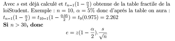 échantillonnage et estimation pdf
