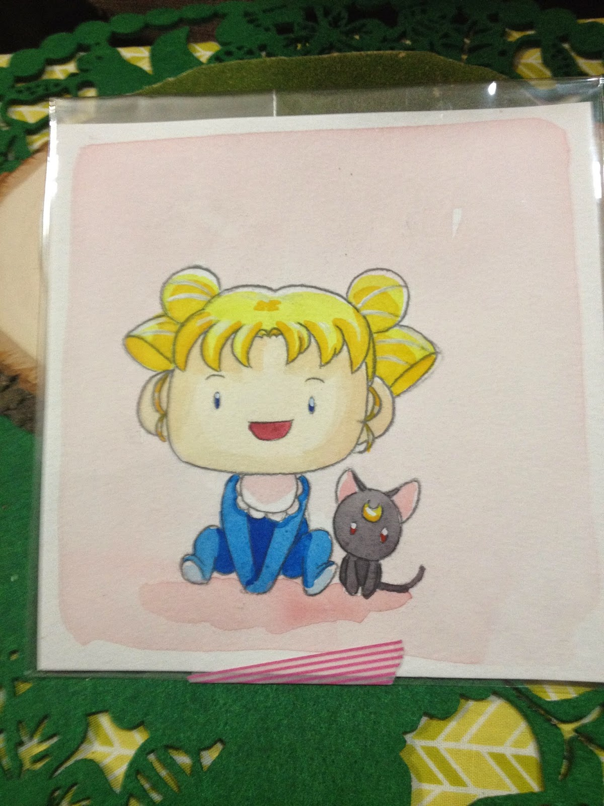 Baby Sailor Moon watercolor