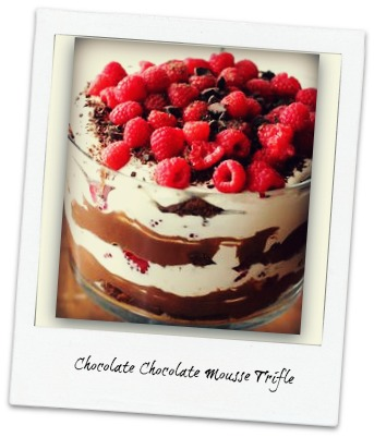 Dying for Chocolate: Chocolate Chocolate Mousse Trifle