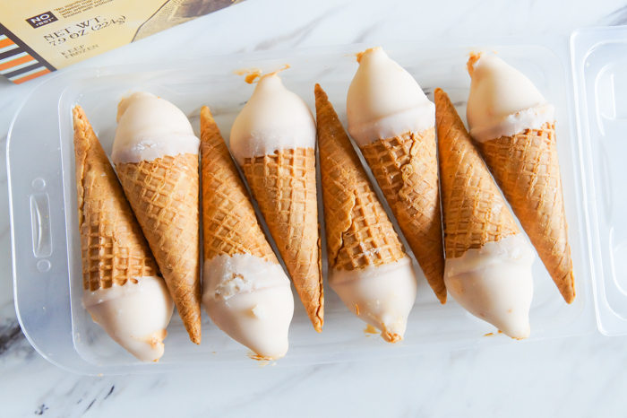 Trader Joe's Pumpkin Ginger Hold the Cone Ice Cream Cones Review