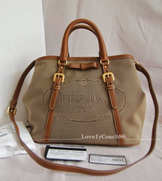 299edd66c4cb Comes with: PRADA Item Info Card, Authenticity Card, Care Card and Dustbag.  Photocopy of Receipt