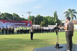 Kapolres Cirebon Pimpin Upacara Hari Bela Negara Ke 70 Tahun 2018