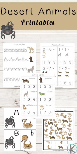 kindergarten worksheets and games desert animals printables. Black Bedroom Furniture Sets. Home Design Ideas