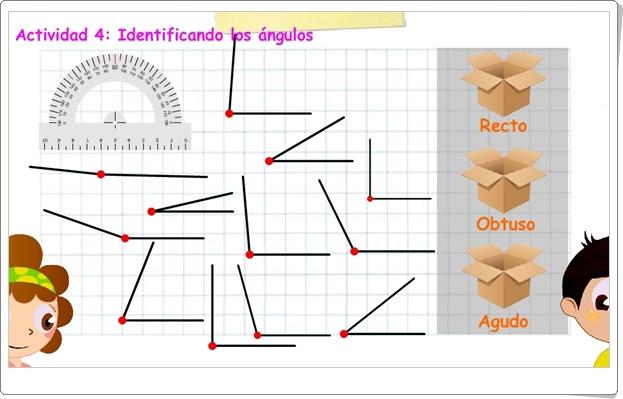 """""""Midiendo ángulos"""" (Juego de Geometría de Primaria)"""